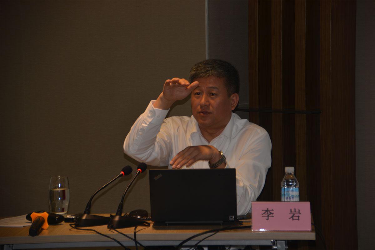 民航局公安局副局长李岩在民航公安情报信息工作培训班上授课