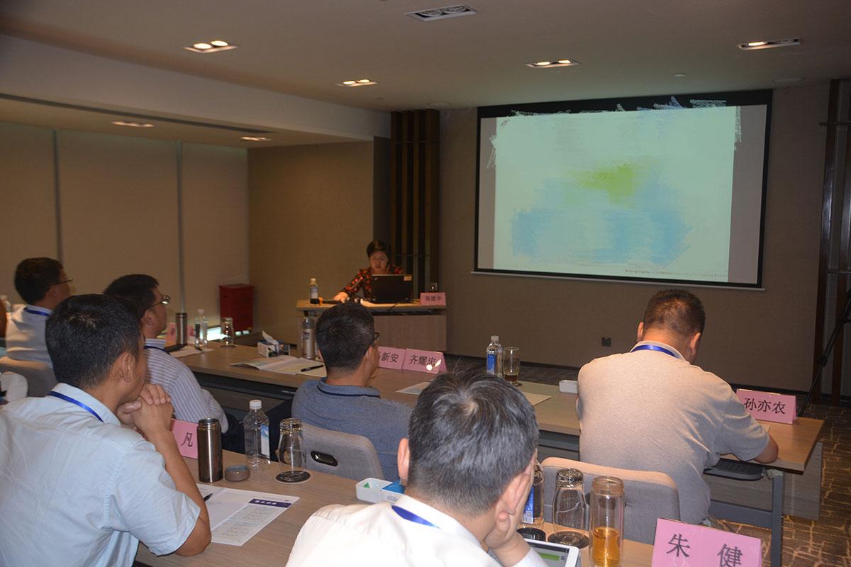 北京首都国际机场公安分局高建华在民航公安情报信息工作培训班上授课
